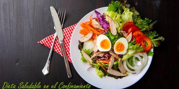 Dieta saludable en el confinamiento